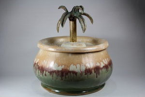 Pet Drinking Fountain PF14043 with palm tree spout