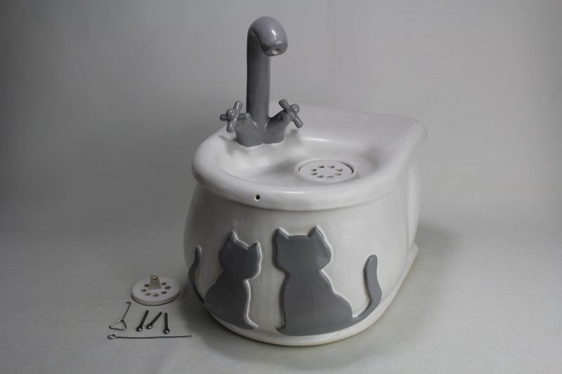 battery operated cordless pet drinking fountain pf17049
