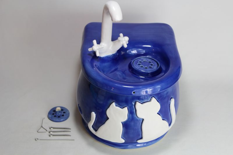 battery operated cordless pet drinking fountain pf17057