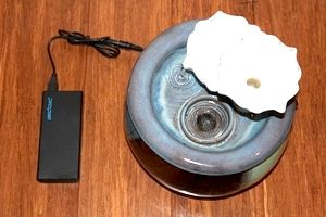 Fountain with USB battery