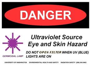 UV-lamp warning